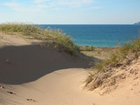 Lake Michigan as seen over Sleeping Bear Dunes