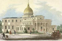 A painting of New Jersey's capitol building