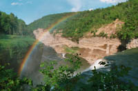 A rainbow in New York's Letchworth State Park